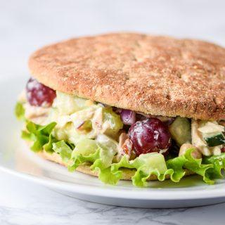 Veggie-Packed Greek Yogurt Tuna Salad (No-Mayo!) recipe - Full of tuna, chickpeas, and greek yogurt for a high protein make-ahead lunch! - ProjectMealPlan.com