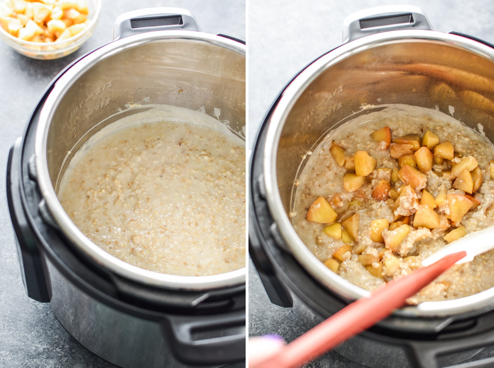 Making cinnamon apple steel cut oats in my Instant Pot - Here are The First 25 Recipes I Made With My Instant Pot