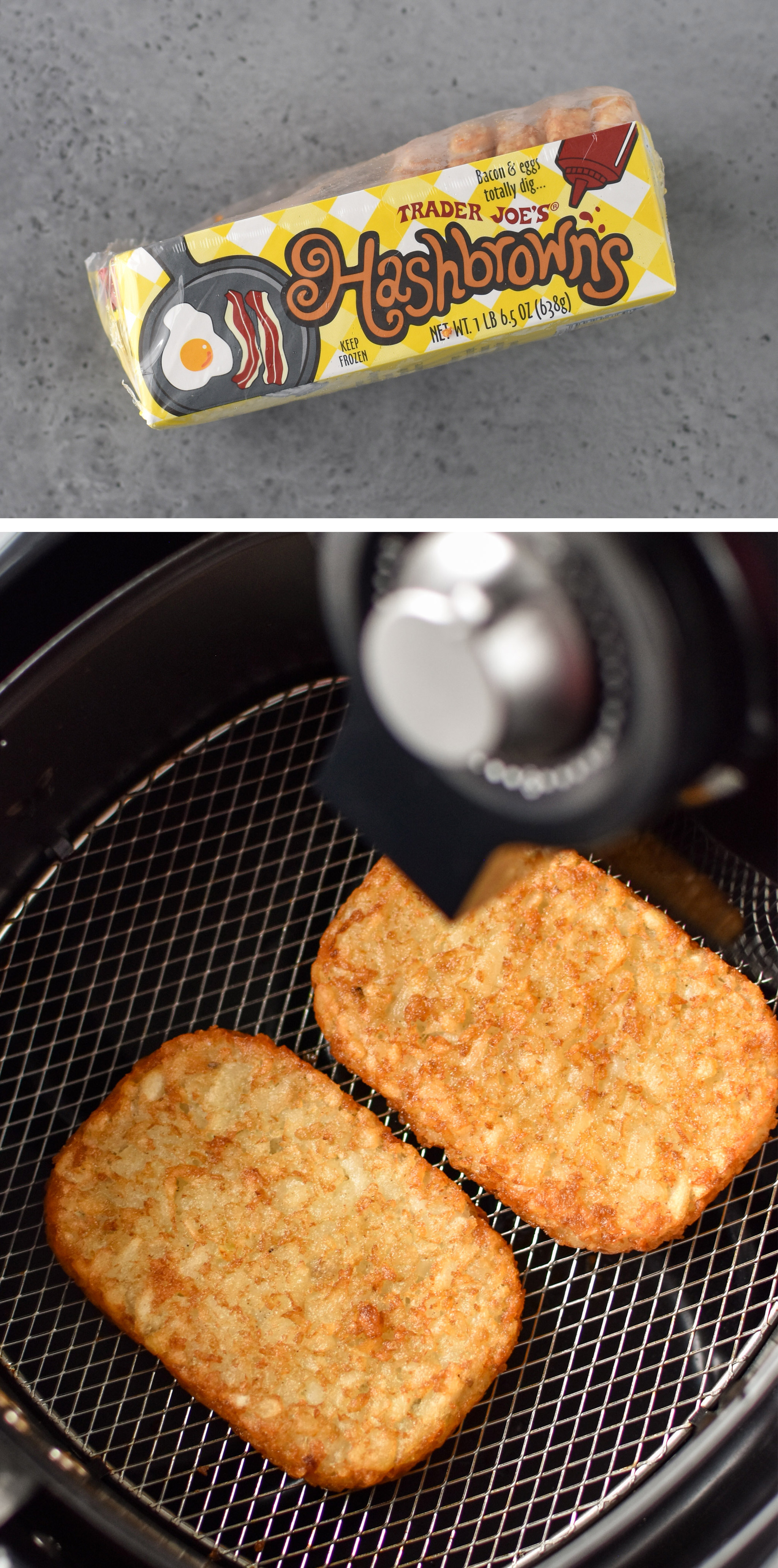 hashbrowns made in the air fryer! 10 Trader Joe's Foods That Are Perfect for Your Air Fryer