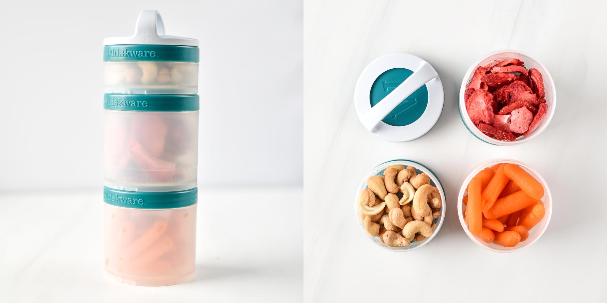 Snacks in a Stackable Whiskware container